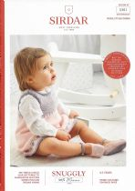 Sirdar Snuggly 100% Merino 4 ply Knitting Pattern Booklet - 5301 Pinafore